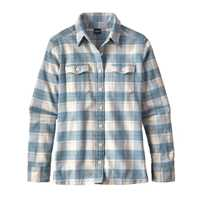Camicie - Boxwood Plaid: Birch White - Donna - Camicia Donna Ws L/S Fjord Flannel Shirt  Patagonia
