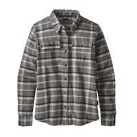 Camicie - Rebel: Forge Grey - Donna - Ws Long-Sleeved Fjord Flannel Shirt  Patagonia