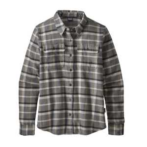 Camicie - Rebel: Forge Grey - Donna - Ws L/S Fjord Flannel Shirt Patagonia