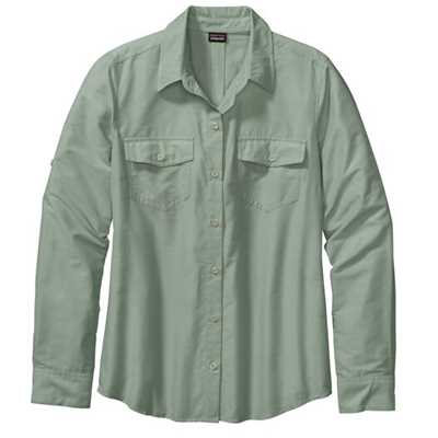 Camicie - Verde - Donna - Womens Long-Sleeved Overcast Shirt  Patagonia