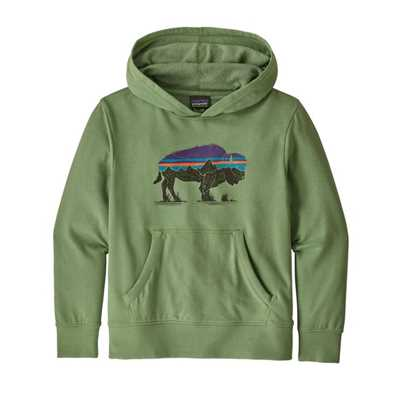Felpe - Fitz roy bison green - Bambino - Boys Lightweight Graphic Hoody Sweatshirt Patagonia