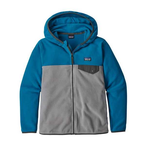 Pile - Feather Grey - Bambino - Boys Micro D Snap-T Jacket  Patagonia