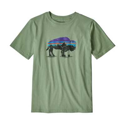 T-Shirt - Fitz roy bison green - Bambino - Boys Graphic Organic T-Shirt Patagonia