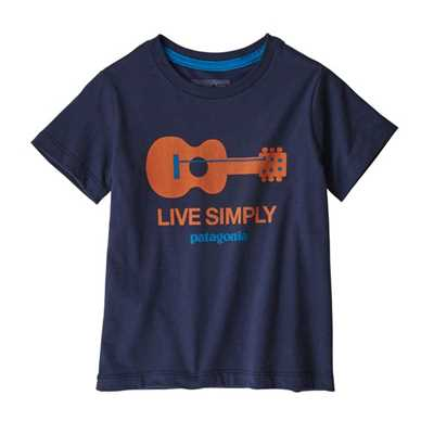 T-Shirt - Live simply guitar neo navy - Bambino - Baby Live Simply Organic T-Shirt Patagonia