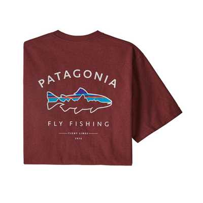 T-Shirt - Oxide Red - Uomo - Ms Framed Fitz Roy Trout Responsabili-tee Patagonia